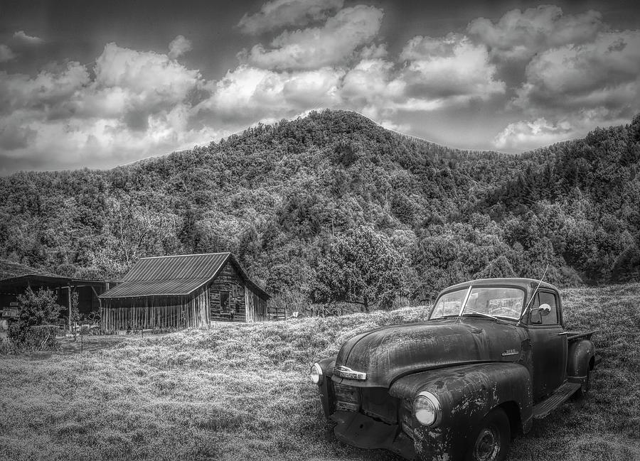 Vintage Chevy under Morning Skies by Debra and Dave Vanderlaan