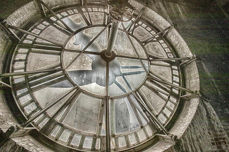Vintage clock tower works by Karen Foley