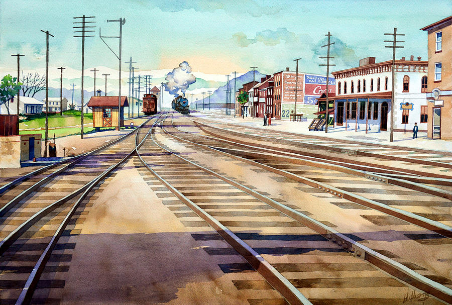 Vintage Color Columbia Rail Yards by Mick Williams