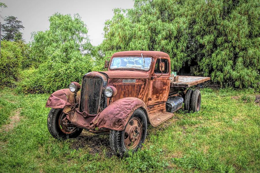 Vintage Dodge Flatbed Truck by Floyd Snyder