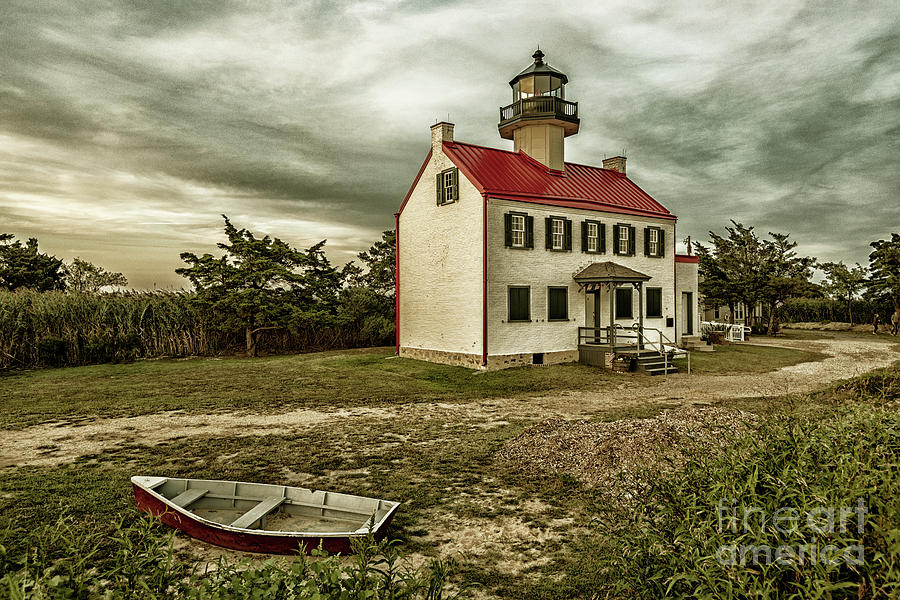 Vintage East Point Lighthouse by Debra Fedchin