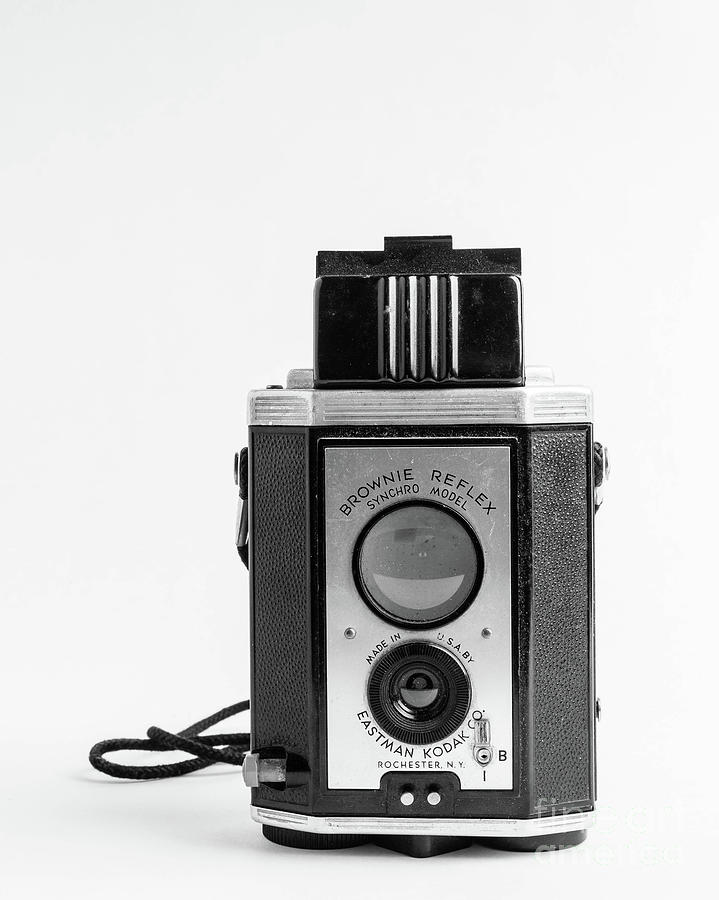 Vintage Eastman Kodak Brownie Reflex Synchro Model Film Camera Photograph By Edward Fielding