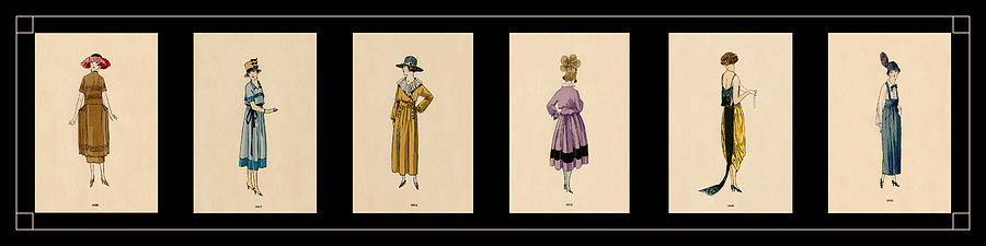 Vintage Fashion Montage 3 Photograph by Andrew Fare