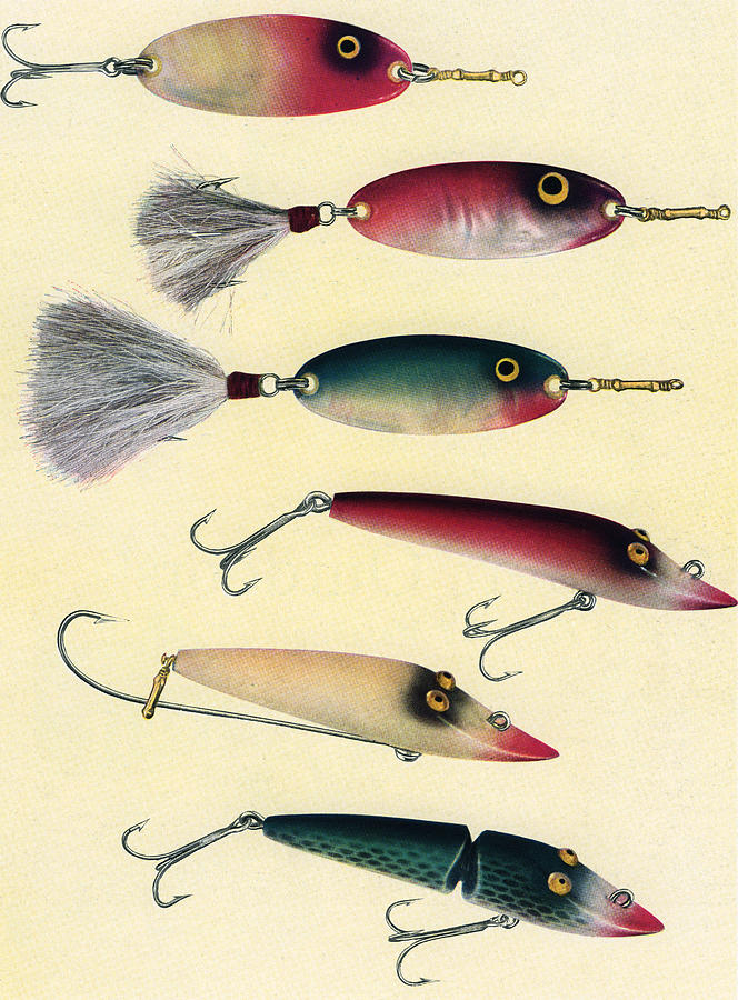 Vintage Fishing Lures Digital Art by Graphicaartis