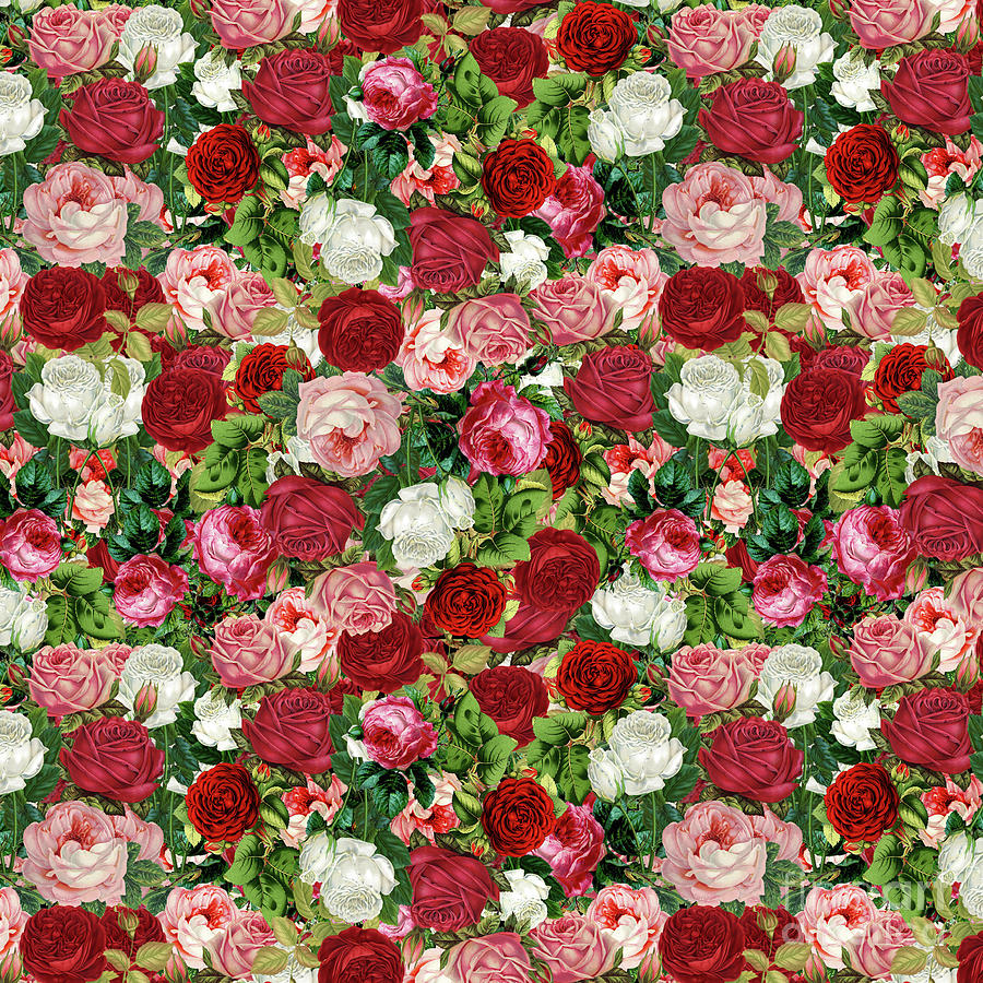 Vintage Flowers by Gravityx9 Designs