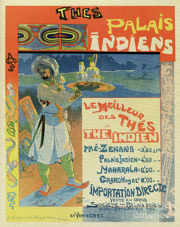 Vintage French Indian Tea advertisement by Aapshop