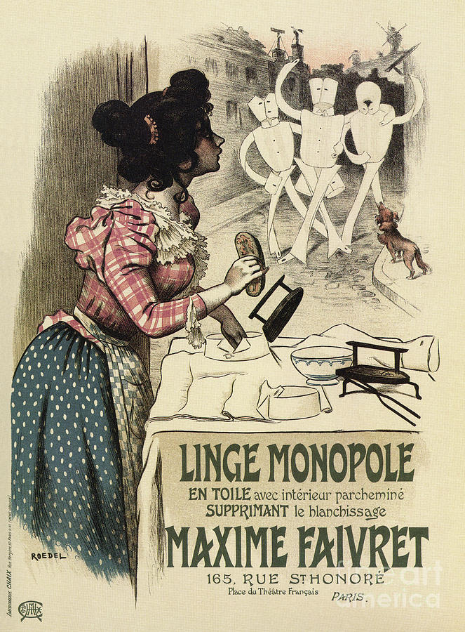 Vintage French linen advertising by Aapshop