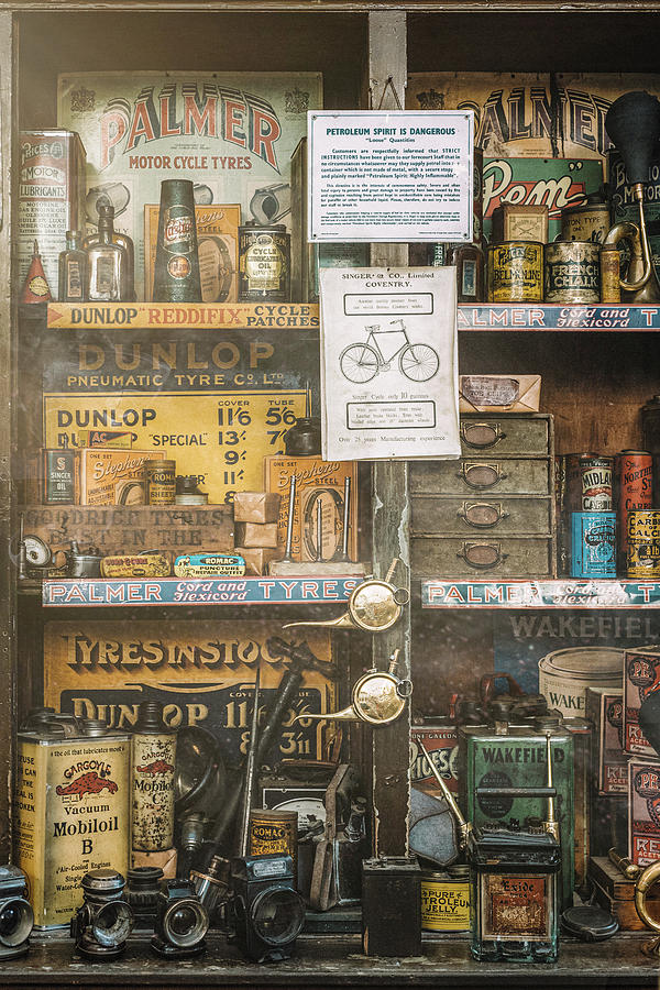 Vintage Garage Workshop by Dave Bowman