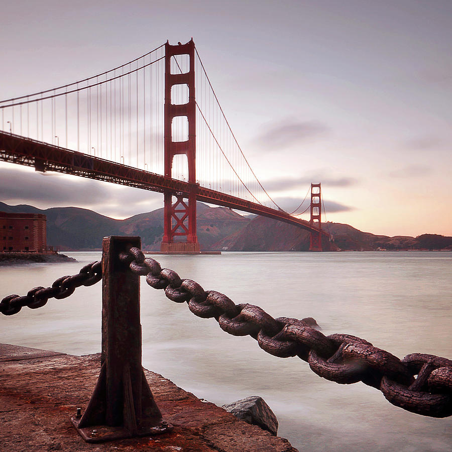 Vintage Golden Gate Photograph by Philippe Sainte-laudy Photography