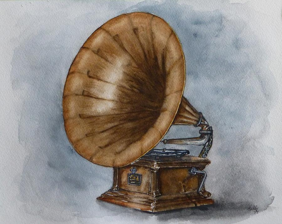 Vintage Gramophone by Kelly Mills