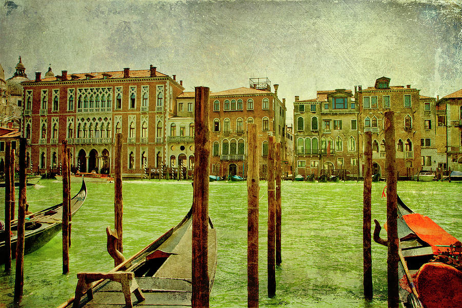 Vintage Grand Canal panorama by Luisa Vallon Fumi