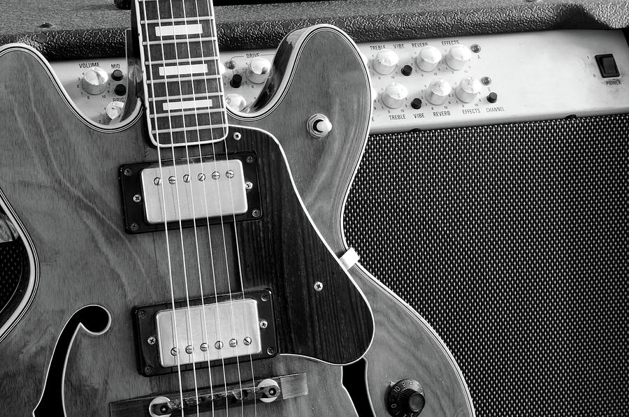 Vintage Guitar And Amp Photograph by Mattjeacock
