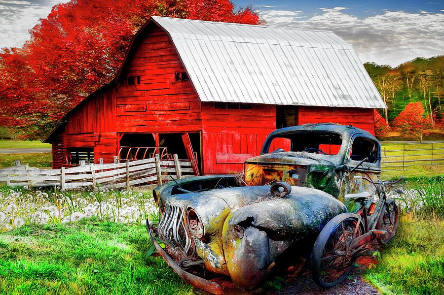 Vintage in the Pasture by Debra and Dave Vanderlaan
