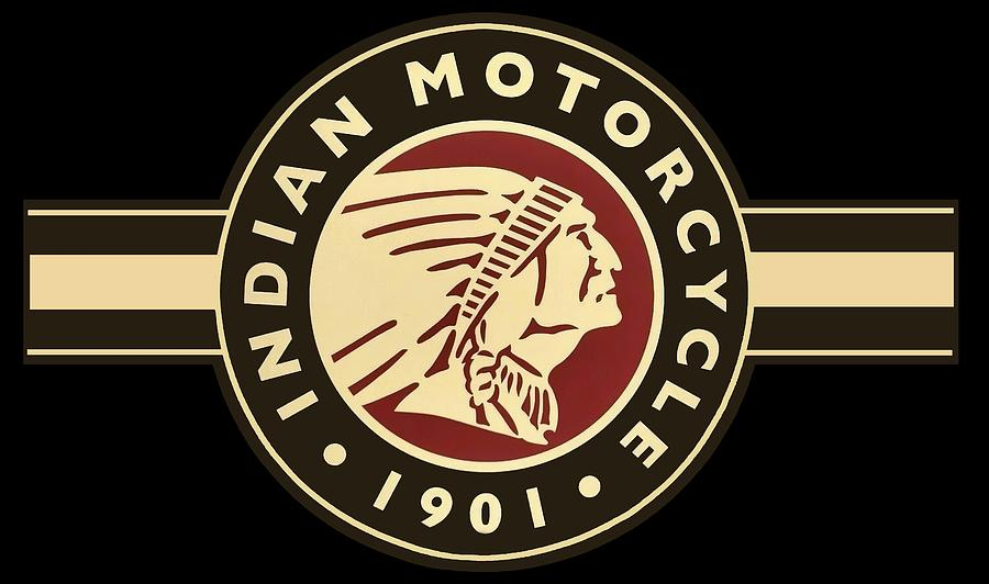 Indian Digital Art - Vintage Indian Motorcycle Sign T-shirt 1901 by Daniel Hagerman