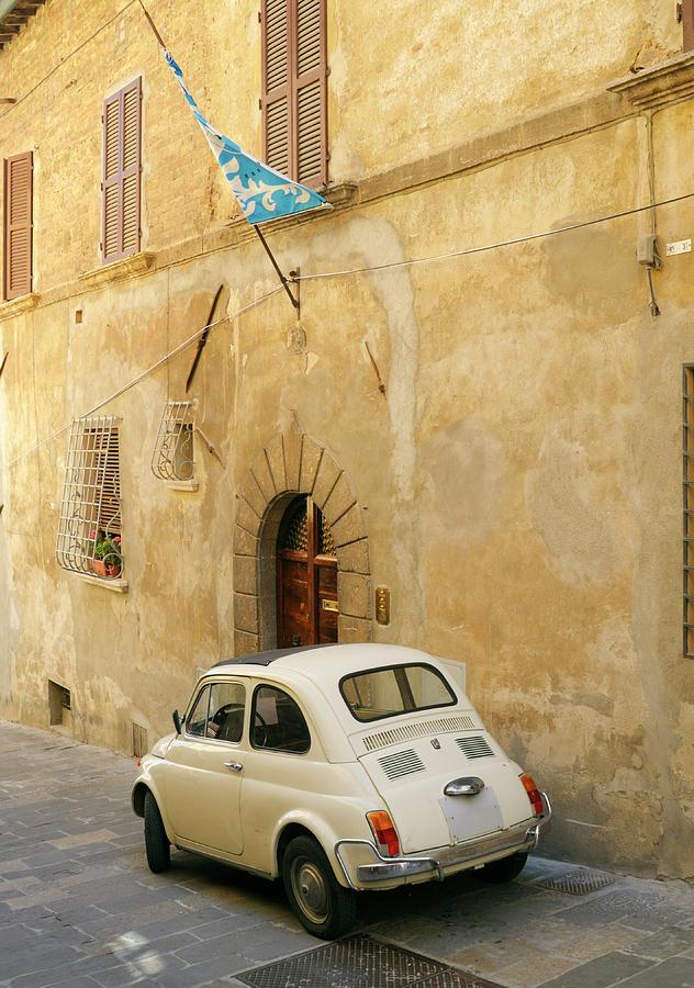 Vintage Italian Car Fiat 500 Urban Scene Photograph by Lisa-blue