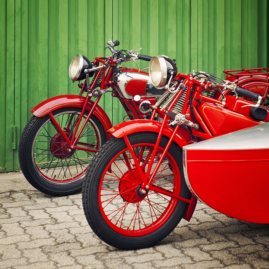 Engine Photograph - Vintage Italian Motorcycles by Thepalmer