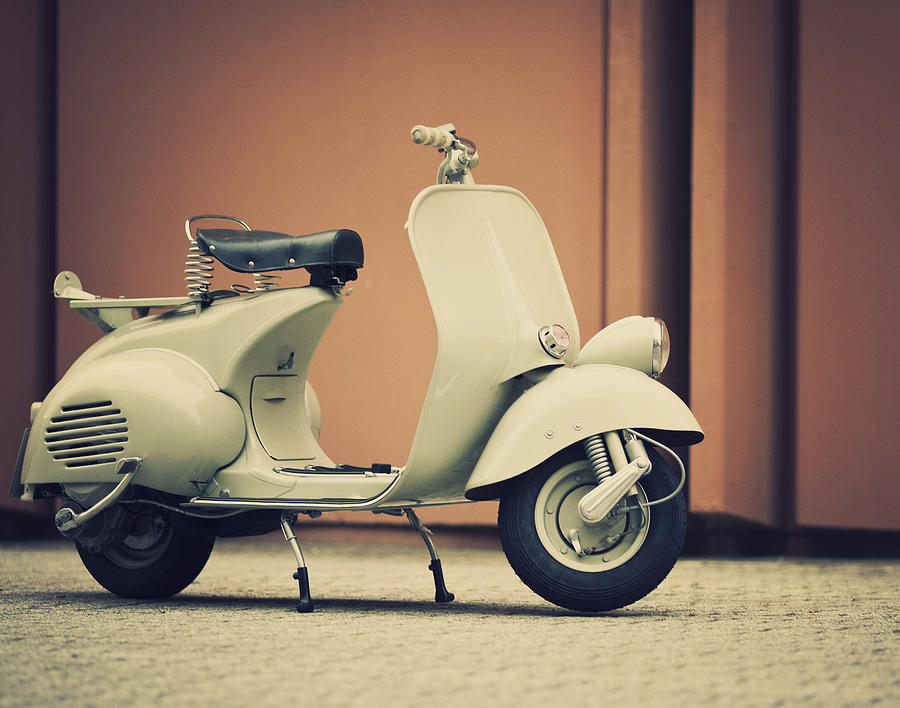 Vintage Italian Scooter Photograph by Thepalmer