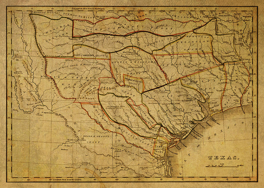 Map Of Texas 1835.Vintage Map Of Texas 1835 By Design Turnpike