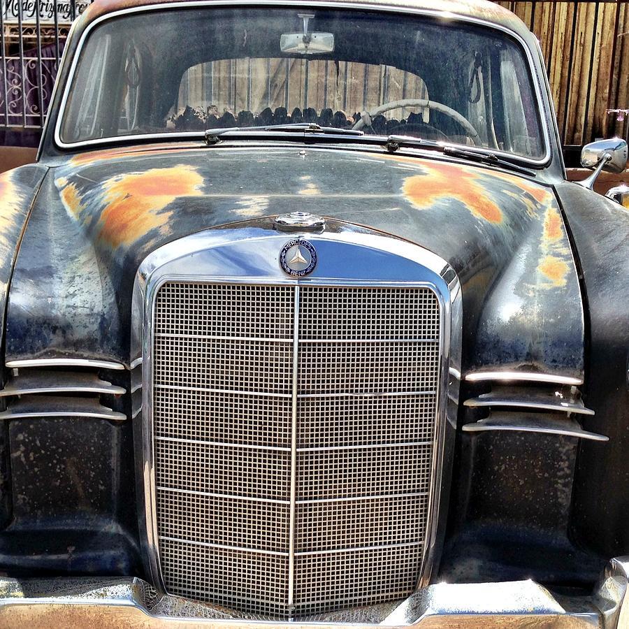 Old Car Photograph - Vintage Mercedes by Jan Hicks