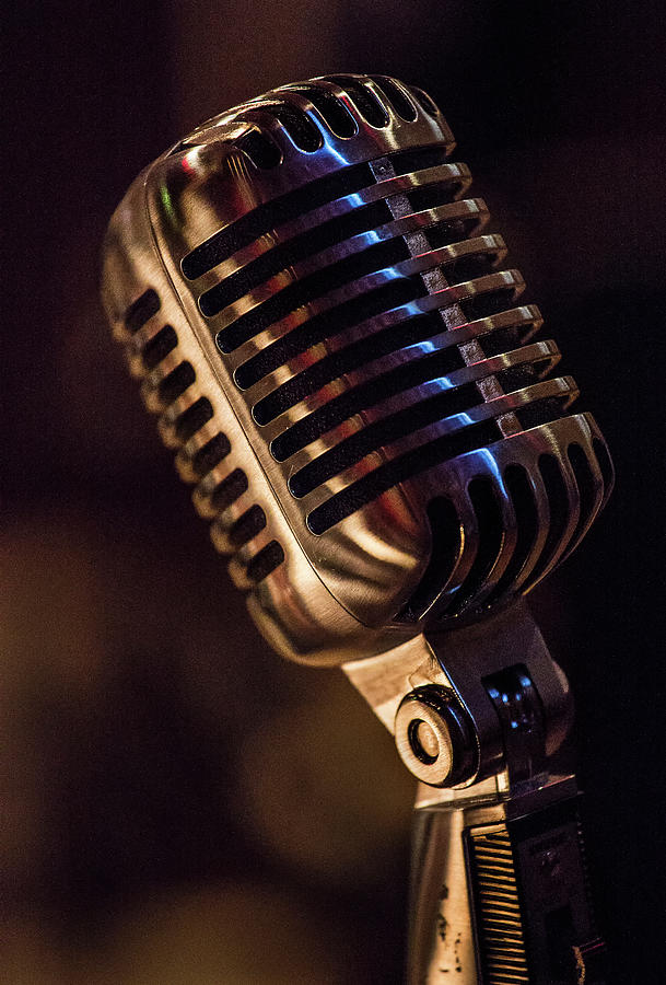 Vintage Mic Photograph by Dave Greenwood