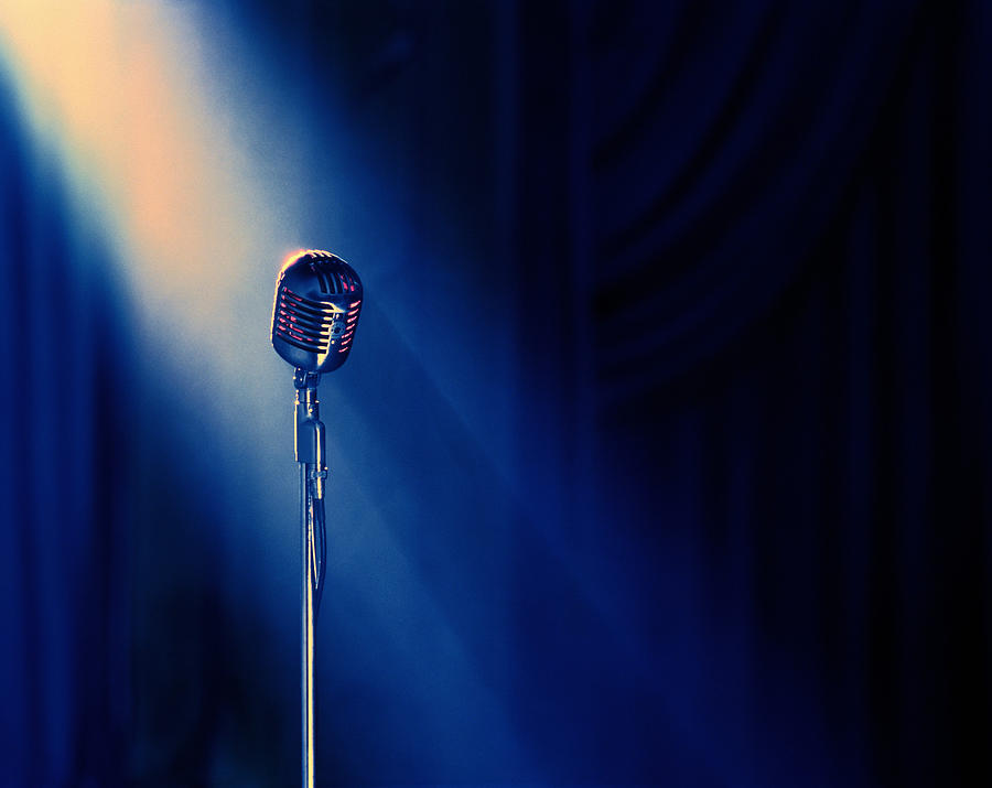 cd1ec191b Vintage Microphone In Spotlight Photograph by Bruce Ayres