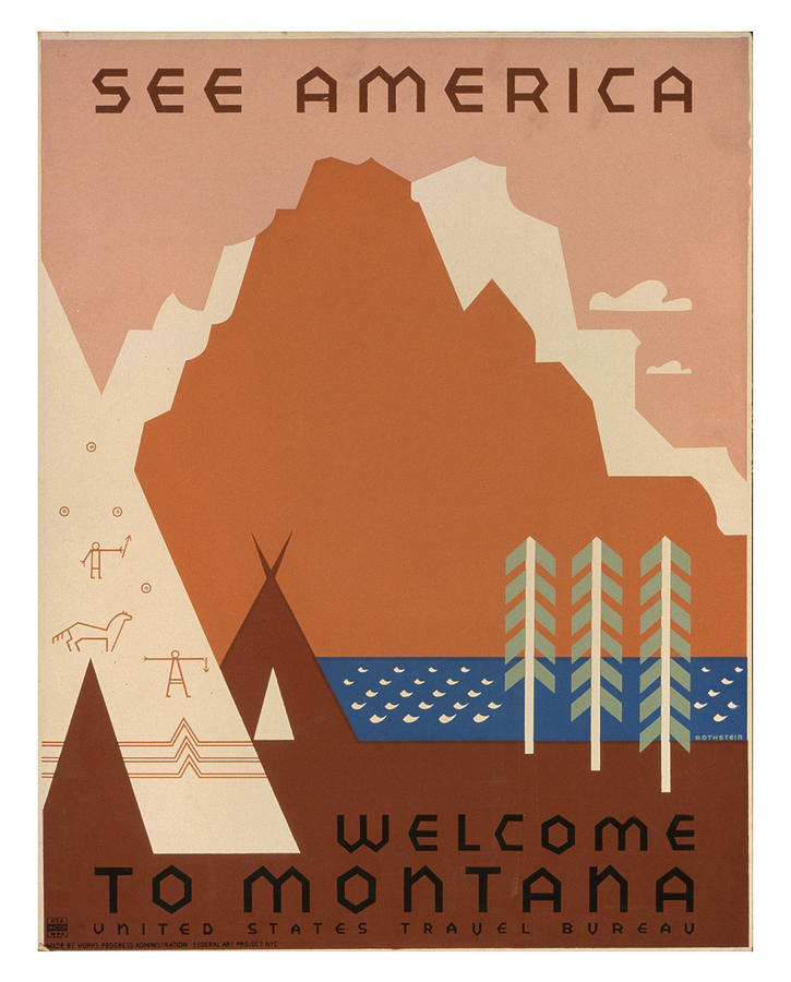 Montana Photograph - Vintage Montana Travel Poster by Ricky Barnard