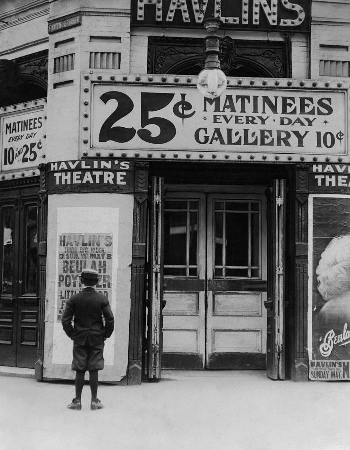 Theater Photograph - Vintage Movie Theater Marquee - St. Louis - 1910 by War Is Hell Store