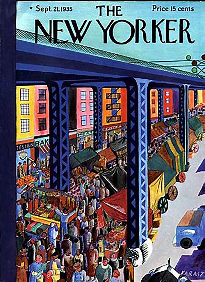 Vintage New Yorker Cover - Circa 1935-2 Digital Art