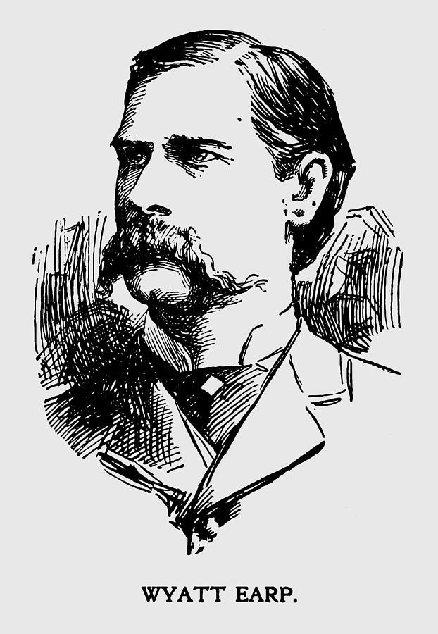 Wyatt Photograph - Vintage Newspaper Wyatt Earp Portrait 1896 - T-shirt by Daniel Hagerman