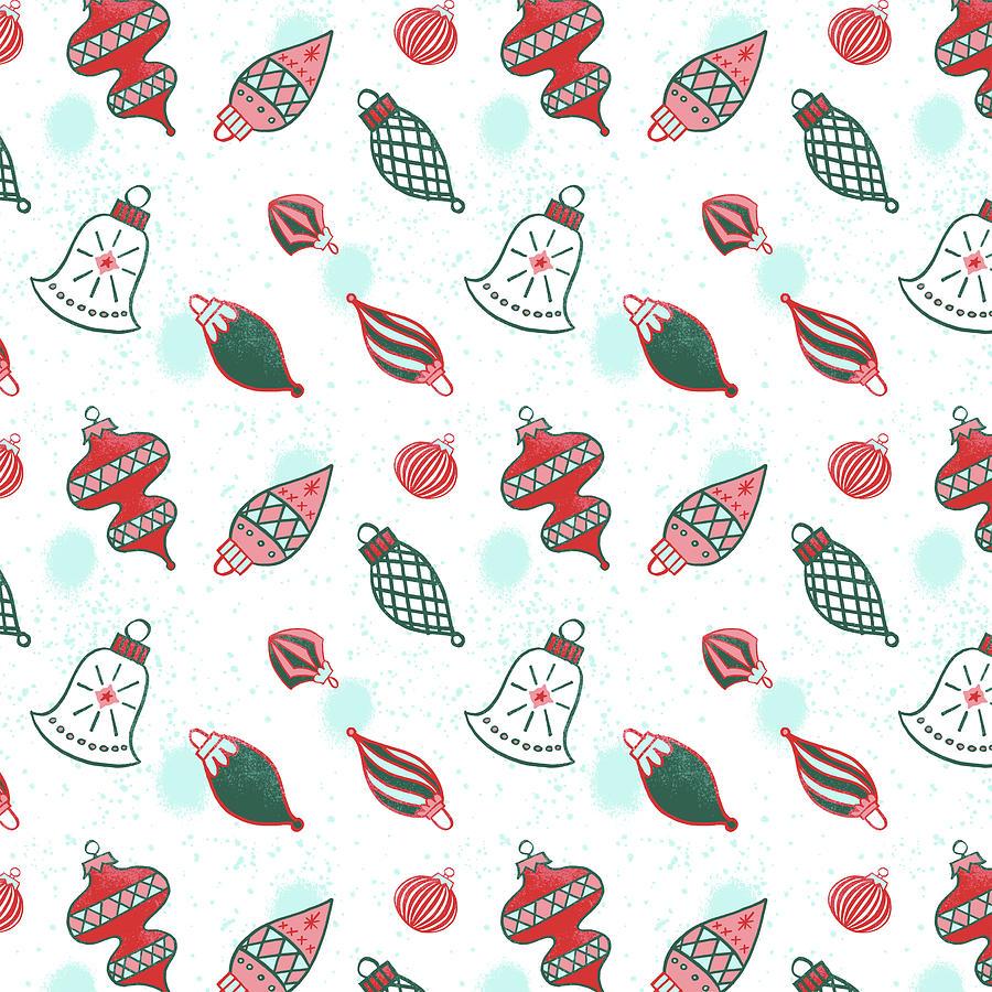 Vintage Ornament Pattern by Jen Montgomery