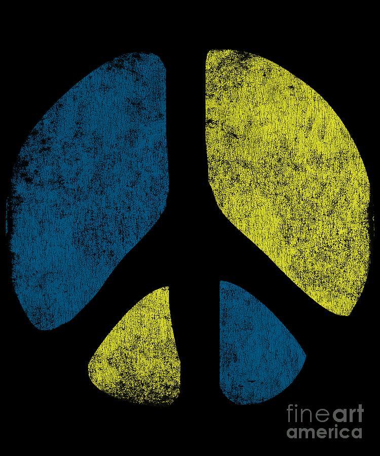 Cool Digital Art - Vintage Peace Sign by Flippin Sweet Gear