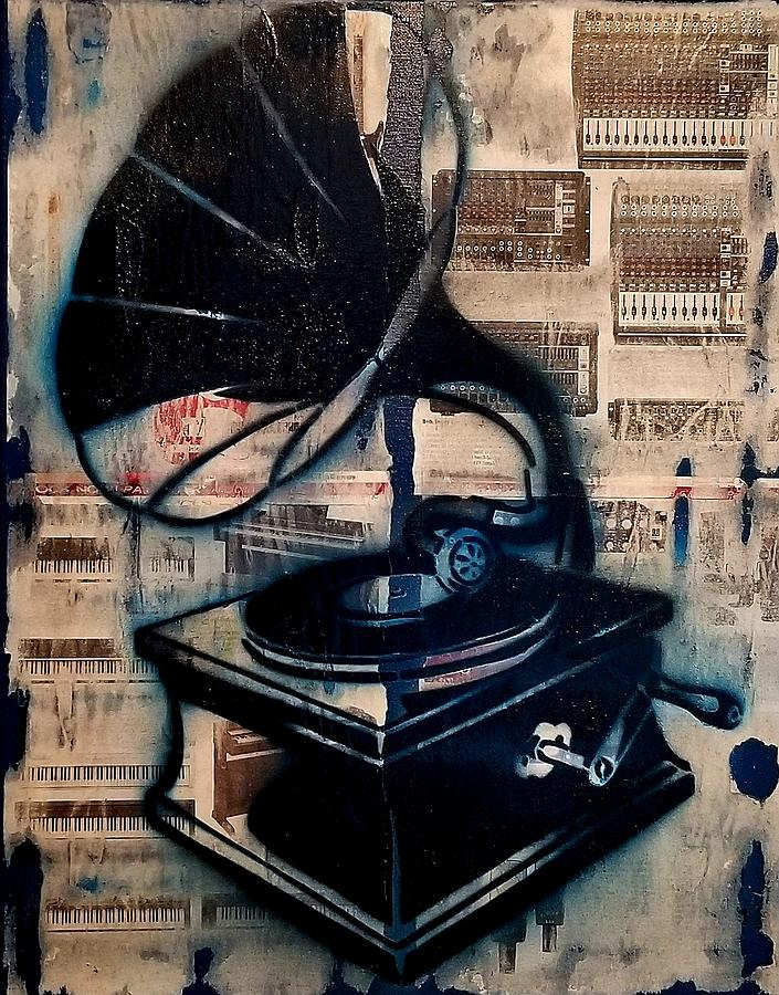 Vintage Phonograph Painting - Vintage Phonograph by Will Woodrow