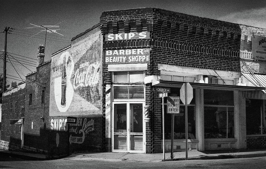 Vintage Photo of Skips Barber Shoppe in Arkansas by Keith Dotson