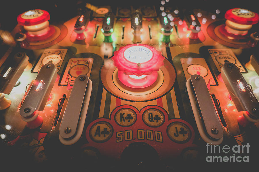 Pinball Photograph - Vintage Pinball Film Fade 2 by Edward Fielding