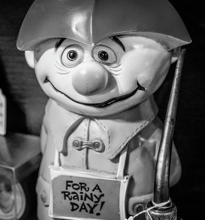 Savings Photograph - Vintage Rainy Day Bank by Laura Smith