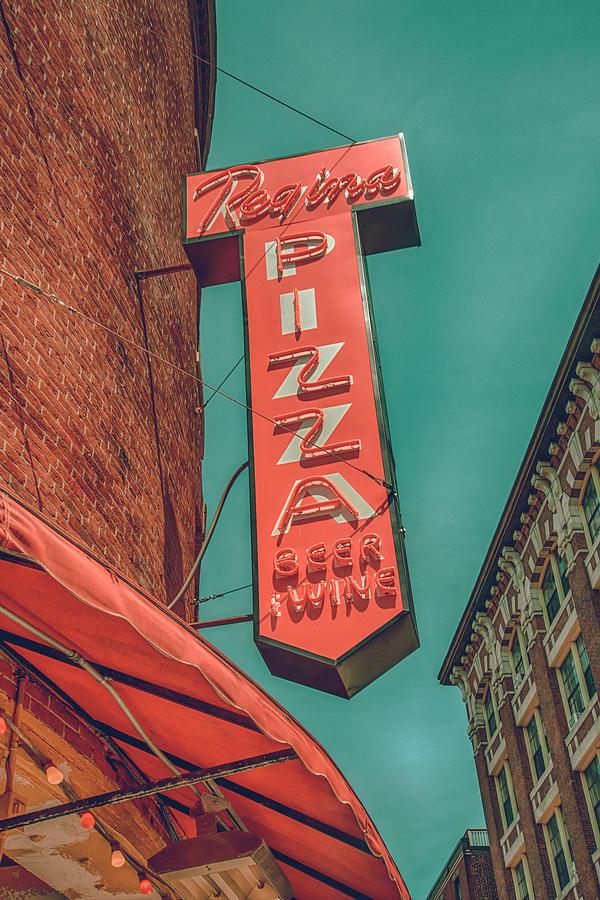 Vintage Regina Pizza Sign - Boston North End by Joann Vitali