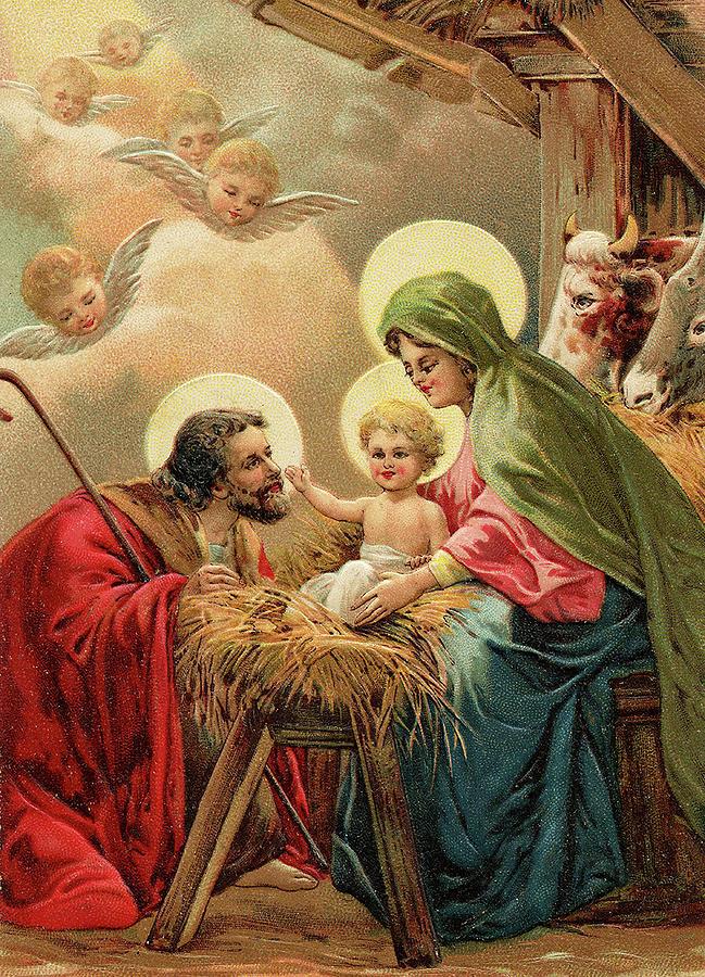 Christmas Religious.Vintage Religious Christmas Card