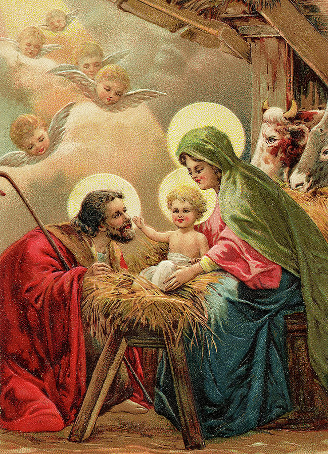 Religious Christmas Images.Vintage Religious Christmas Card