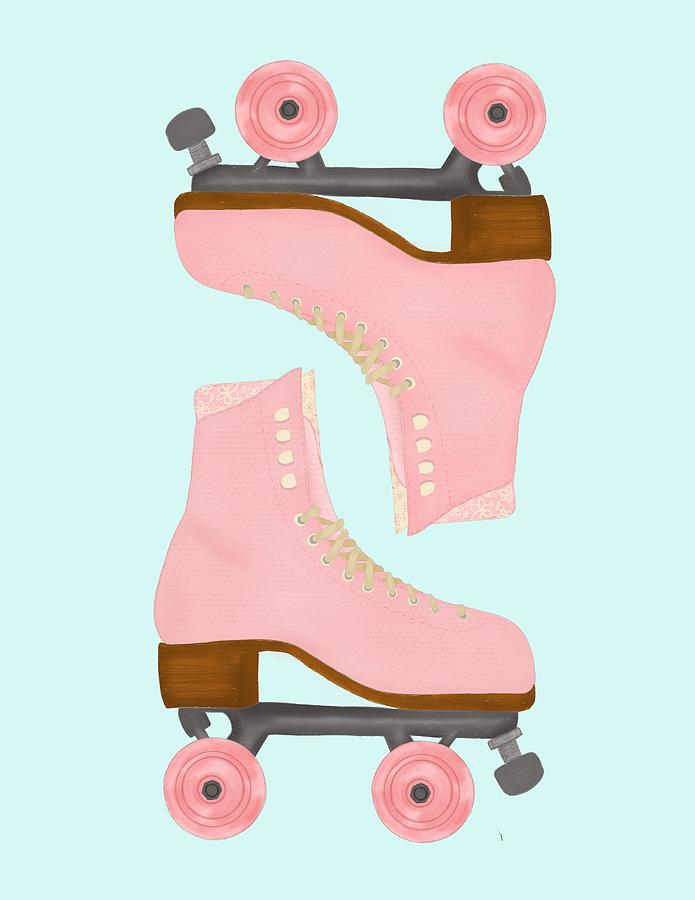 Vintage Retro Roller Skate Digital Art By Katia Vilelva