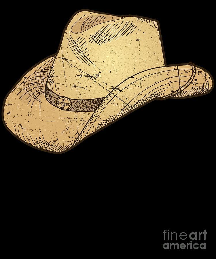 8ff5feb7b Vintage Retro Western Cowboy Hat Distressed by Minted Fresh