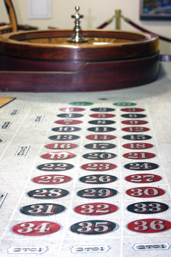 Vintage Roulette Table by Gravityx9 Designs