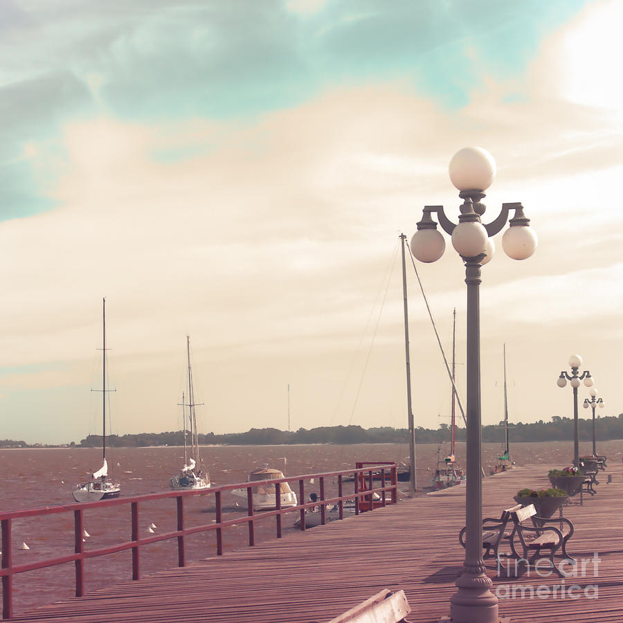 Sunshine Photograph - Vintage Sea Port by Andrekart Photography