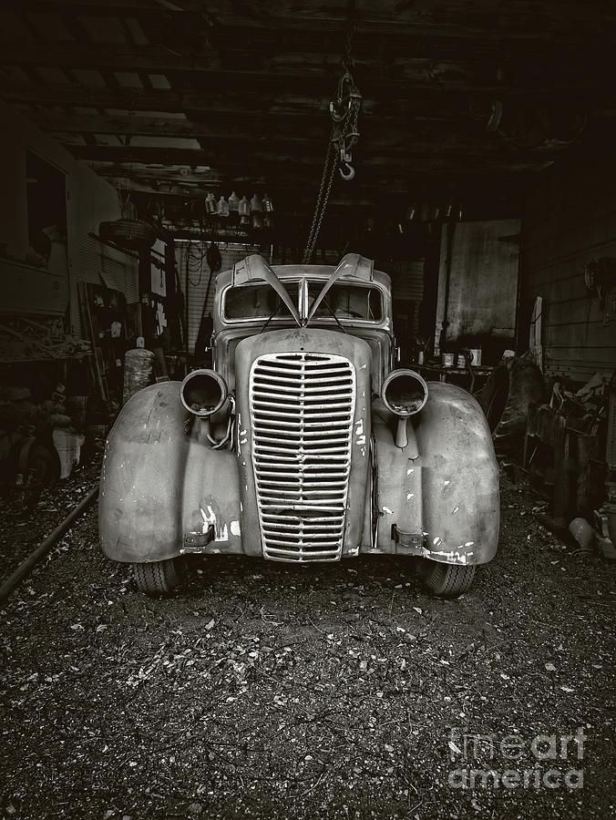 Jerome Photograph - Vintage Service Station Jerome Arizona by Edward Fielding