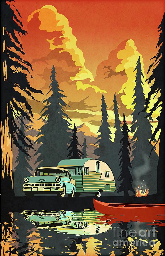 Vintage Shasta Camper by Sassan Filsoof