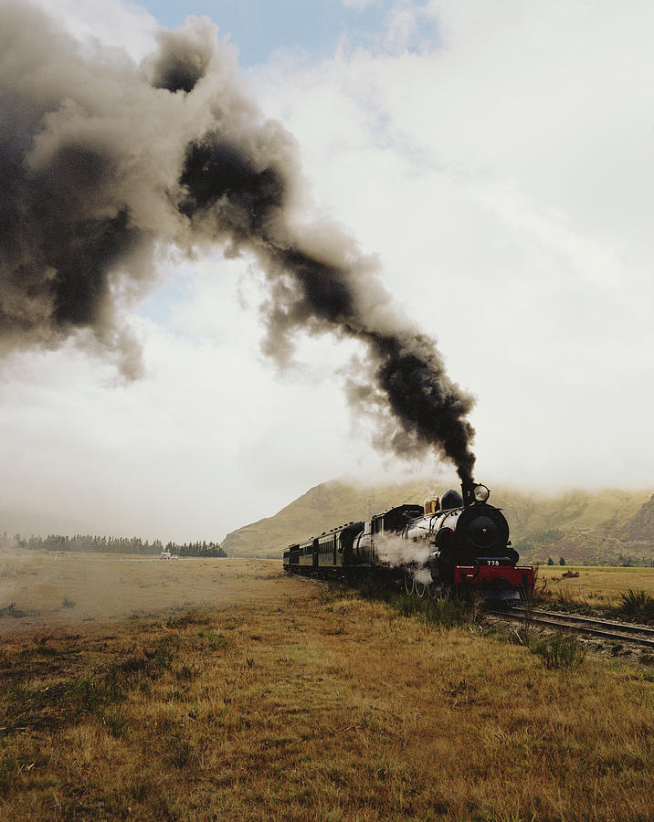Vintage Steam Locomotive Photograph by Blasius Erlinger