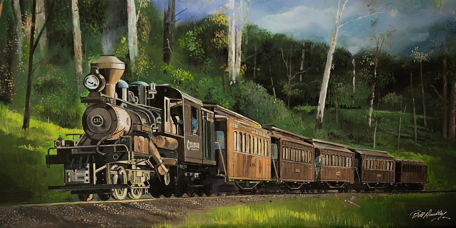 Vintage Steam Train by Bill Dunkley