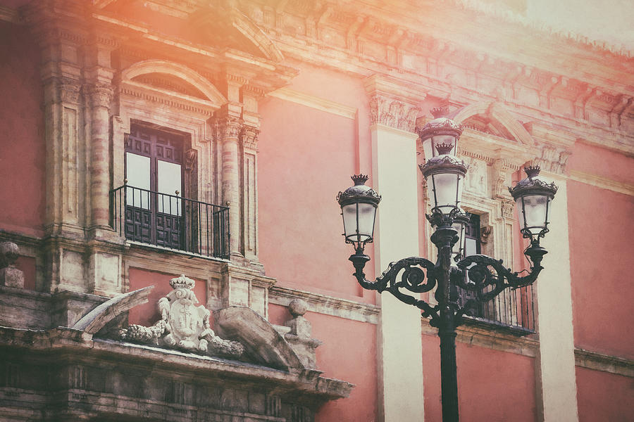 Vintage street lamps of valencia spain photograph by carol - Vintage valencia ...