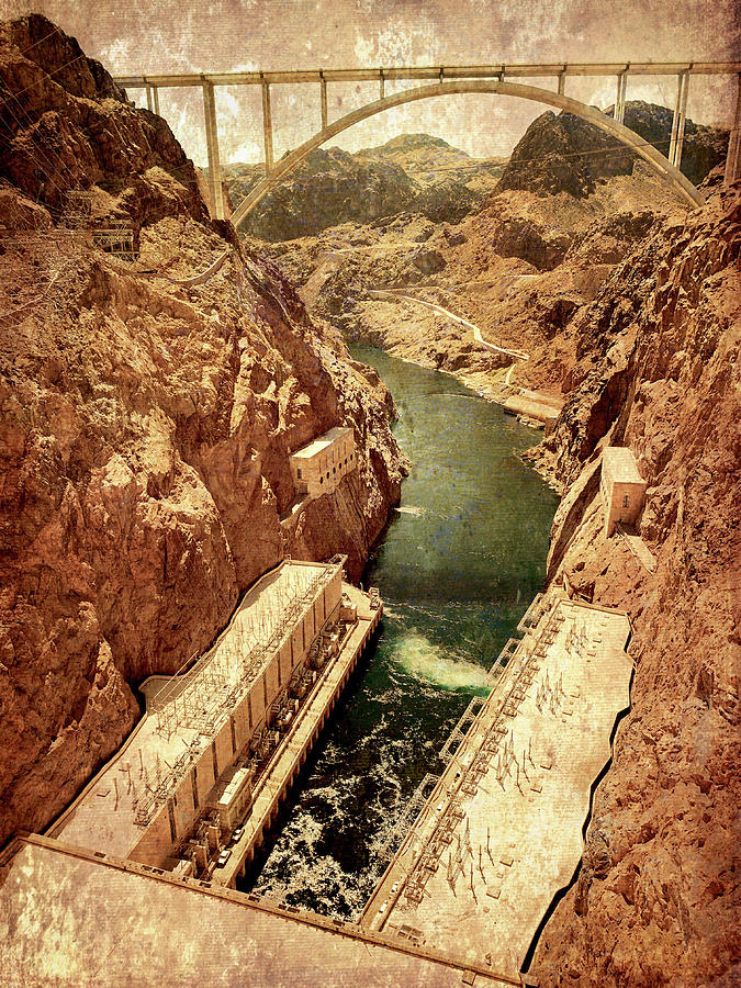 Vintage Style Hoover Dam by Marilyn Hunt