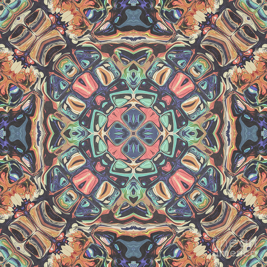 Vintage Symmetry Mandala by Phil Perkins