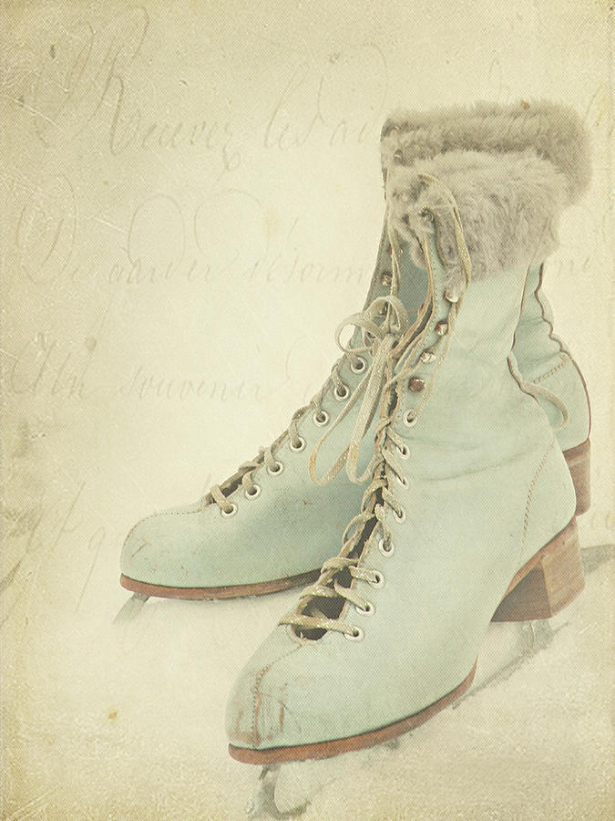 Vintage Teal Skates Photograph by My Vintage Gardens Photography